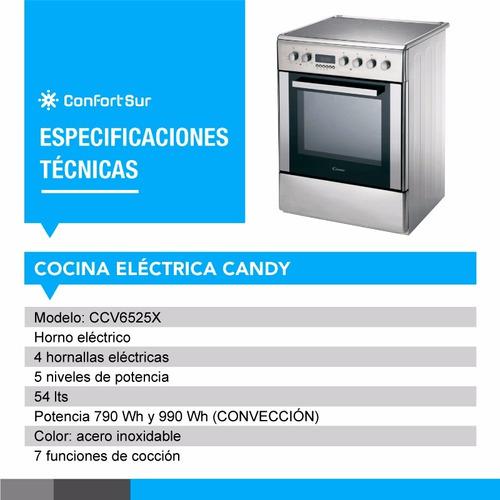 cocina eléctrica candy digital 60x60cm acero inoxida envio