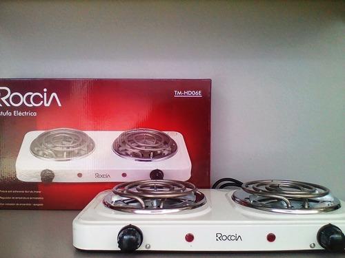 cocina eléctrica de 2 hornillas 110v roccia nueva tienda