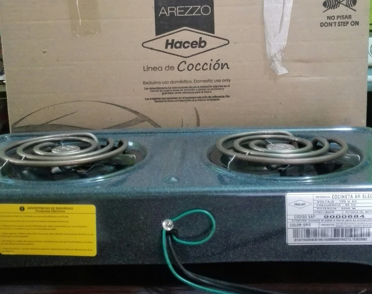 Cocina Electrica De Dos Hornillas Haceb Bs 500 000 00 En