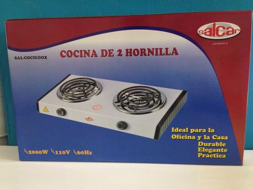 cocina eléctrica de mesa 2 hornillas salcar (somos tienda)