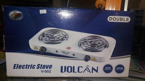 cocina electrica dos quemadores marca volcán
