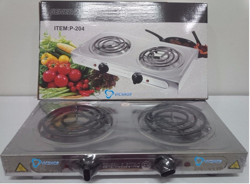 cocina eléctrica general electric 2 hornillas 2000w original