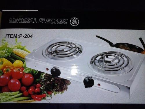 cocina eléctrica general electric 2 hornillas