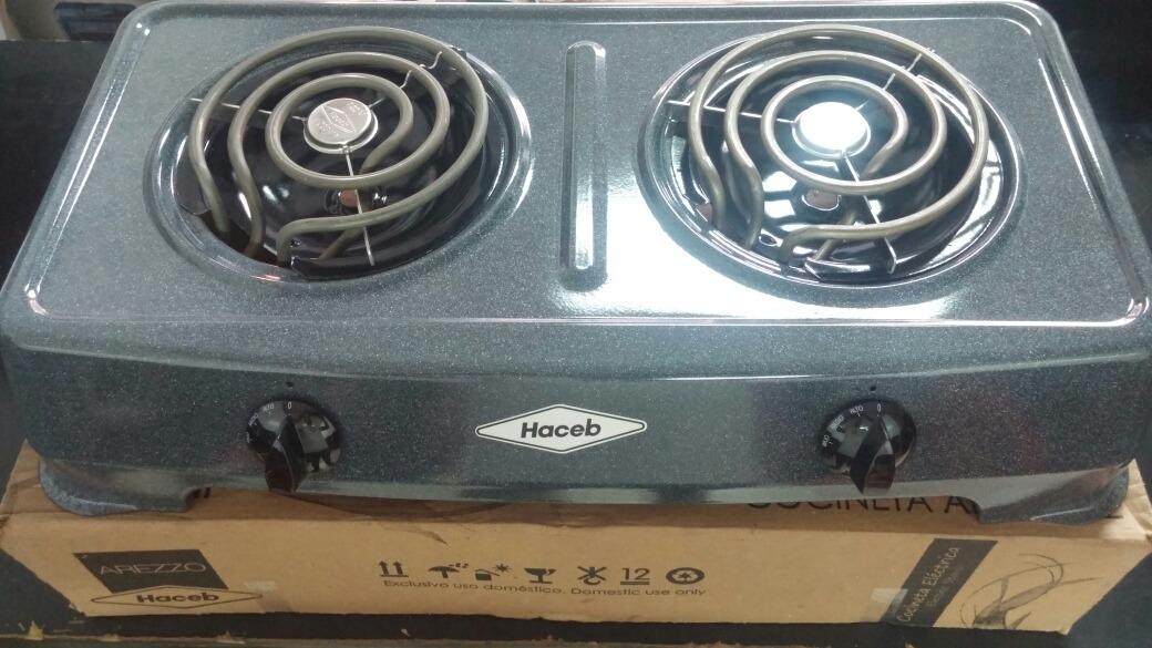 Cocina Electrica Haceb 2 Hornillas Original 1 Ano Garantia Bs