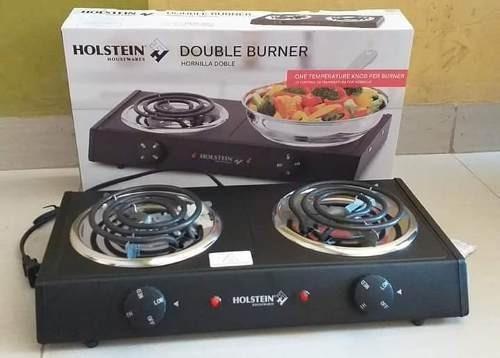 cocina eléctrica hornilla doble holstein no wok sartén olla