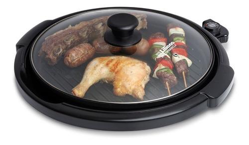cocina eléctrica liliana ak300 multiparrilla tapa vidrio