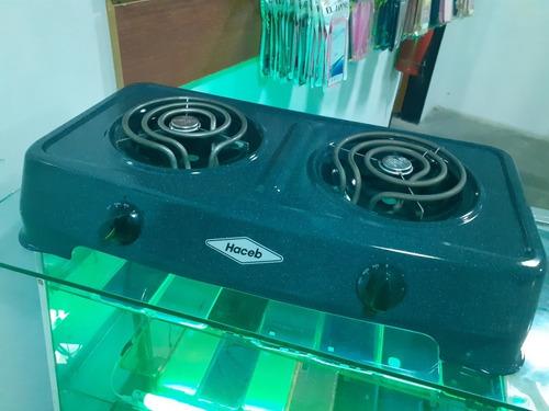 cocina electrica  original haceb 2 hornillas