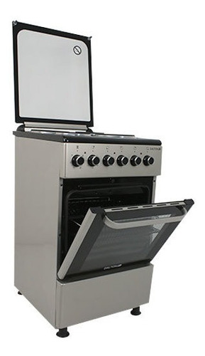 cocina eléctrica plata 50cm 4 hornallas grill tapa dalton
