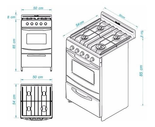 cocina  escorial  candor a gas natural - cuotas