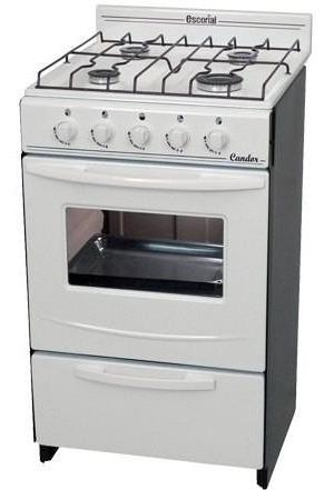 cocina escorial candor blanca gas natural o gas envasado