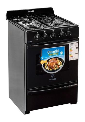 cocina escorial master 56 cm blanca o negra multigas