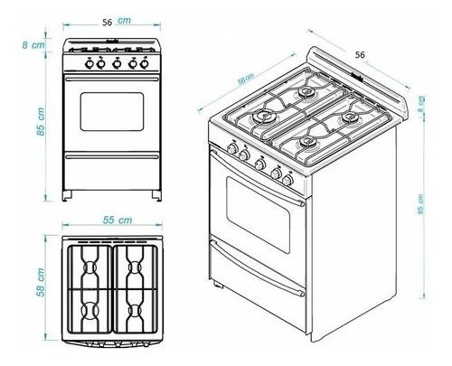 cocina escorial master blanca multigas - cuotas -