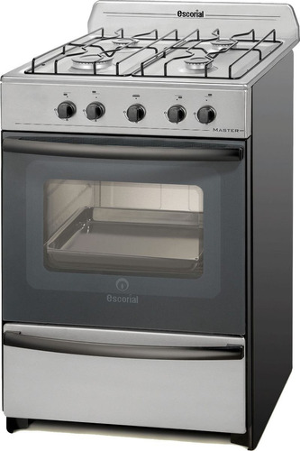 cocina escorial master full acero inoxidable multigas