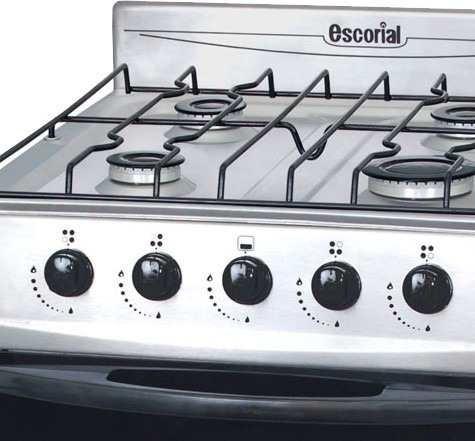 cocina escorial palace acero 50 cm visor parrilla 4 hornalla
