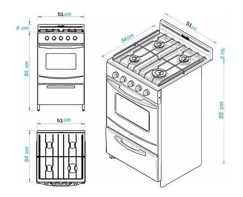 cocina escorial palace blanca gas natural con luz s2 cuotas