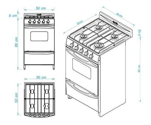 cocina escorial palace cristal a gas con luz y encendido