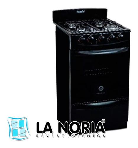 cocina escorial palace negra gas natural con luz s2 -cuotas-