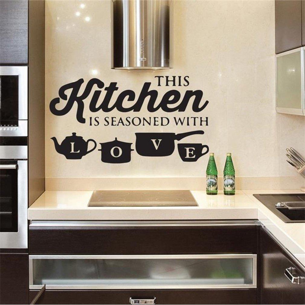 Cocina Eslogan Pared Pegatinas Cocina Restaurant Casa Decal