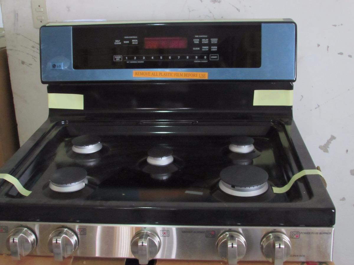 Cocina estufa gas lg acero 30 nueva en for Precio cocina nueva