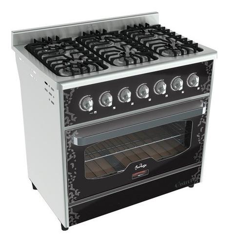 cocina fornax anata 6 hornallas 90 cm horno visor color