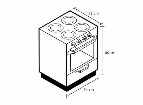 cocina gas con horno modelo galicia indurama 6 quemadores