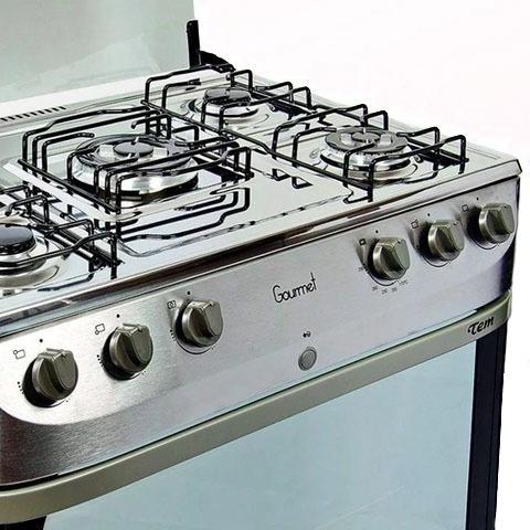 cocina gourmet 5 hornallas en acero inoxidable mi casa
