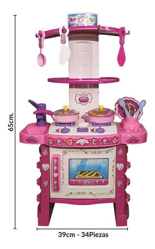 cocina grande juguete luz y sonido 34 piezas accesorios - el