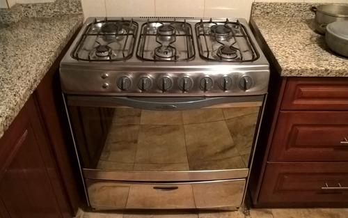 cocina indurama 6 quemadores cromada