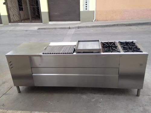 cocina industrial 3 que+ plancha+grill+horno+gratinador+meso