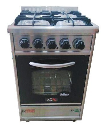 cocina industrial 4 h fornax 53 cm pta visor reja fundicion