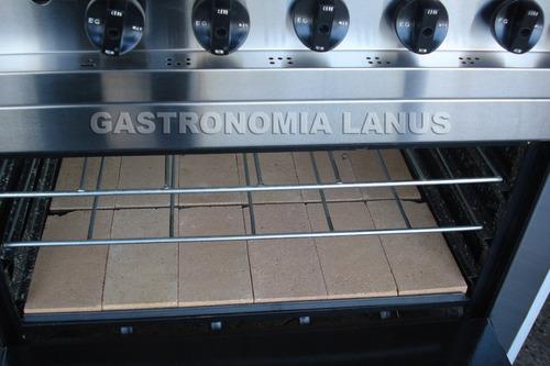cocina industrial 4 hornallas 80cm con horno pizzero