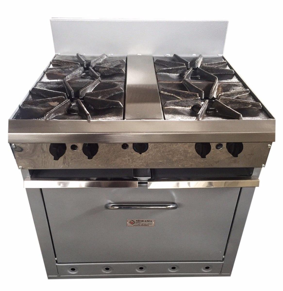 Cocina industrial 4 hornillas con horno morama bs - Cocinas industriales usadas ...