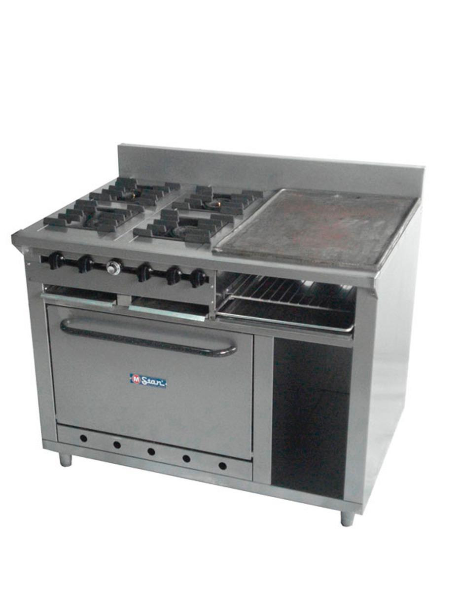 Cocina industrial 4 hornillas plancha gratinador horno Cocinas para restaurantes