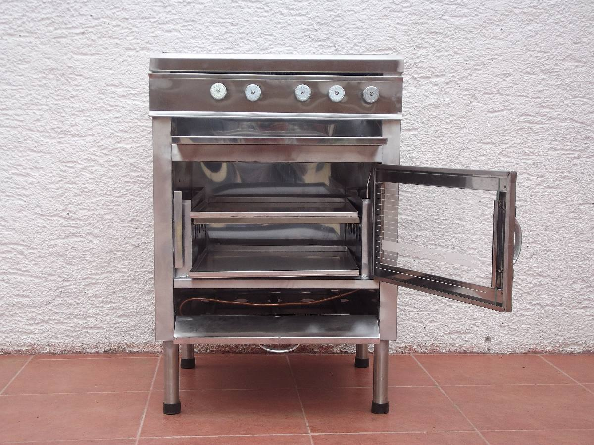 Cocina industrial 4 quemadores con horno de 2 latas for Costo cocina industrial