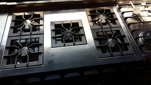 cocina industrial 5 hornallas estrella horno 90cm fabrica