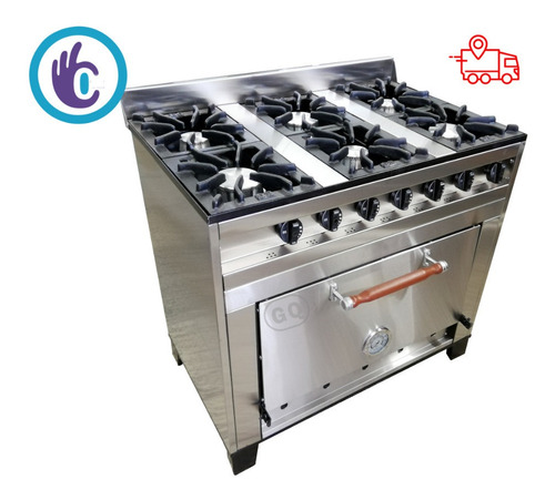 cocina industrial 6 hornallas eg 93 ahora 12 envio gratis