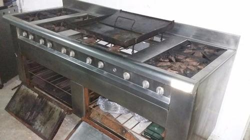 Cocina Industrial 6 Hornayas Plancha 2 Hornos U S