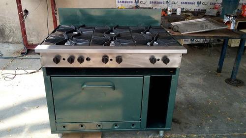 cocina industrial 6 hornilla con horno