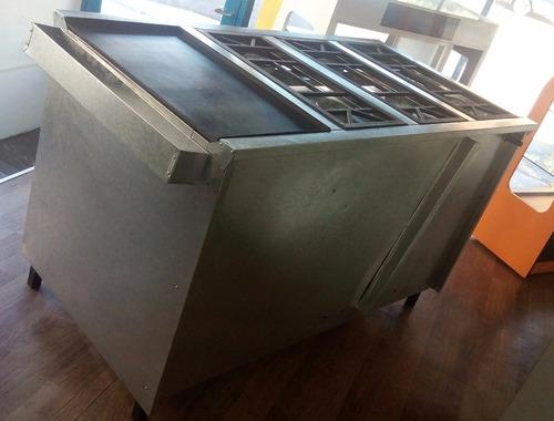 cocina industrial 6 hornillas con horno,plancha y gratinador