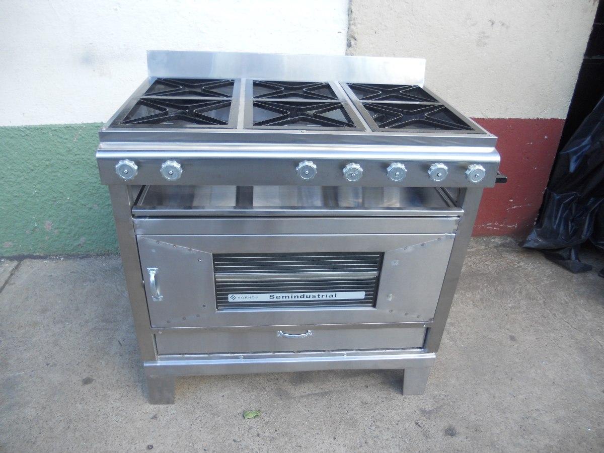 Cocina industrial 6 quemadores con horno de 2 latas - Cocina con horno ...