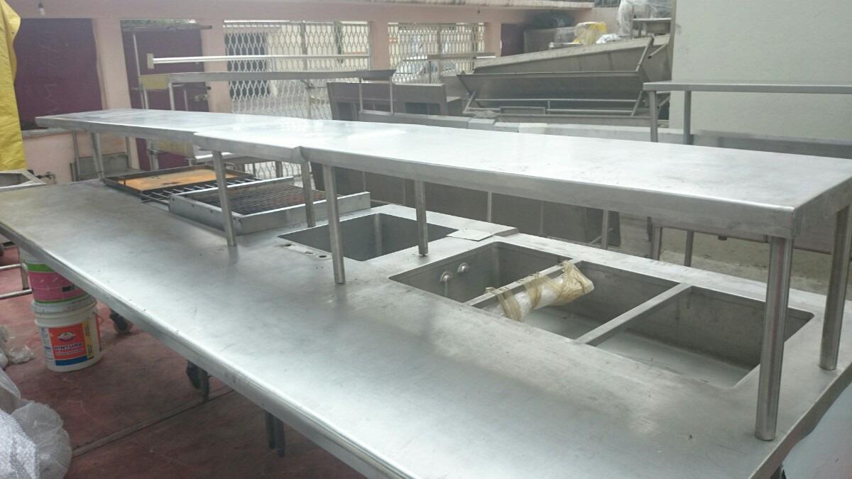 Cocina Industrial Acero Inox Para Restaurante 330