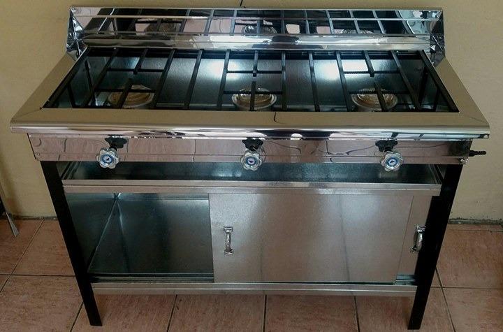 Cocina Industrial De 3 Quemadores Mueble Mixta - U$S 100,00 en ...