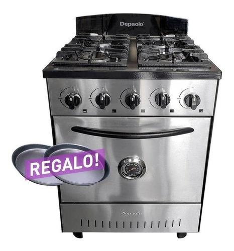 cocina industrial depaolo 4 hornallas 57 cm horno pizzero