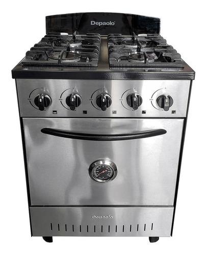 cocina industrial depaolo 4 hornallas 57cm horno pizz cuotas