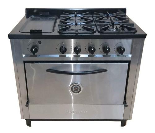 cocina industrial depaolo 4 + plancha 90 cm acero inoxidable