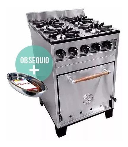 cocina industrial eg 4 h 57 cm acero inox horno pizzero