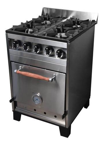 cocina industrial eg 4h 57 cm acero inox horno pizzero cuota