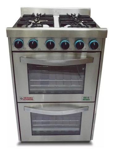 cocina industrial fornax 4 hornallas 60 cm doble horno visor