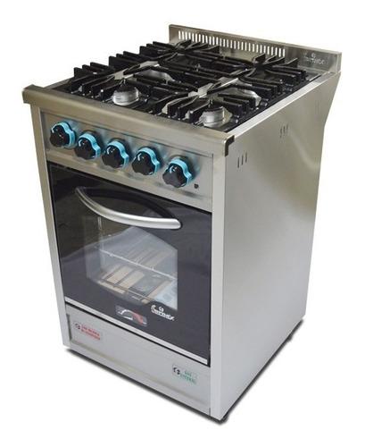 cocina industrial fornax 4h puerta visor ac inox 55 cm cuota