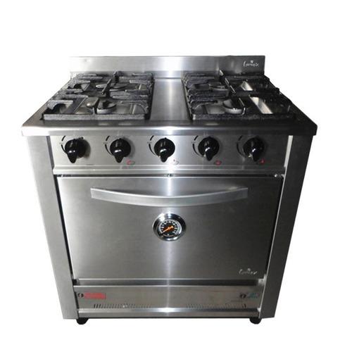 cocina industrial fornax 90cm- linea taverna -puerta  acero
